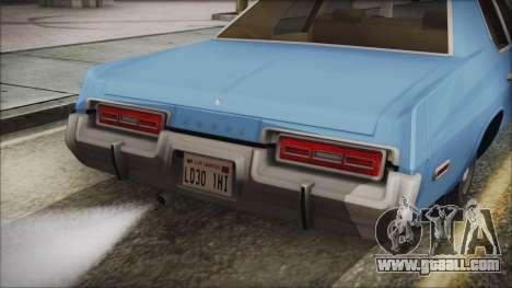 Dodge Monaco 1974 Civilian for GTA San Andreas right view