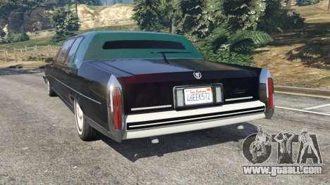 GTA 5 Cadillac Fleetwood 1985 Limousine [Beta] rear left side view