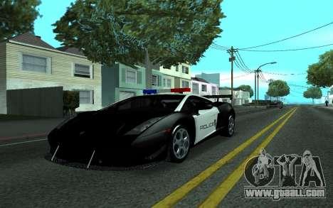 Lamborghini Gallardo Tunable for GTA San Andreas back left view