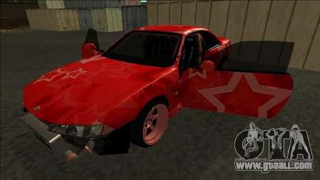 Nissan Silvia S14 Drift Red Star for GTA San Andreas engine