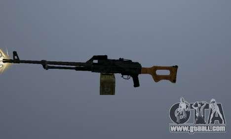 The Kalashnikov Machine Gun for GTA San Andreas second screenshot