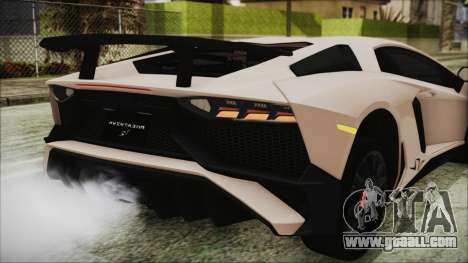 Lamborghini Aventador SV 2015 for GTA San Andreas upper view