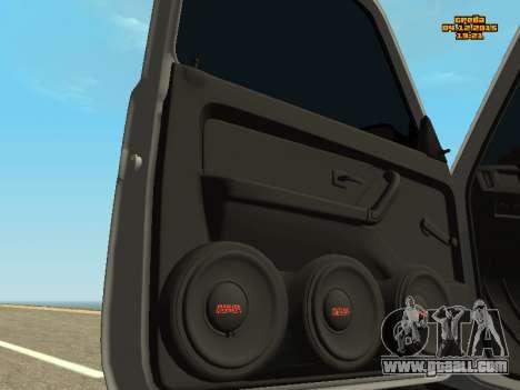 VAZ 2123 Niva auto Sound for GTA San Andreas back view