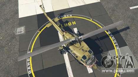GTA 5 Bell UH-1D Iroquois Huey Gunship fourth screenshot