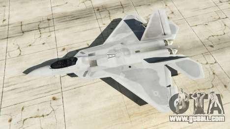 GTA 5 Lockheed Martin F-22 Raptor fourth screenshot
