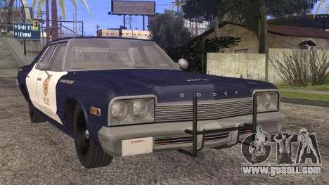 Dodge Monaco 1974 LSPD StickTop Version for GTA San Andreas