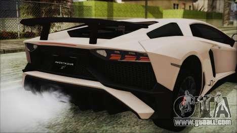 Lamborghini Aventador SV 2015 for GTA San Andreas side view