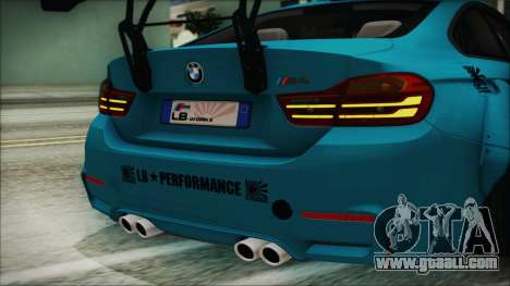 BMW M4 2014 Liberty Walk for GTA San Andreas inner view