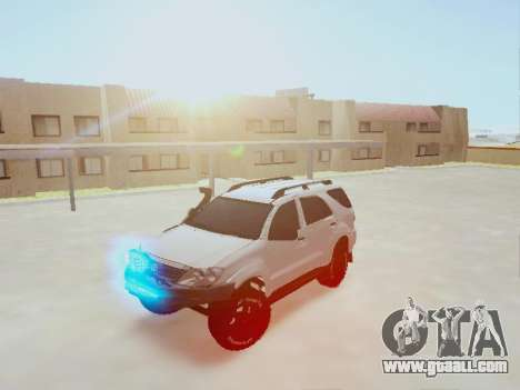 Toyota Fortuner 2012 TRD Off-Road for GTA San Andreas back view