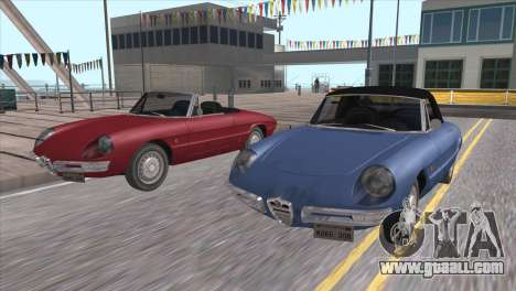 1966 Alfa Romeo Spider Duetto [IVF] for GTA San Andreas inner view