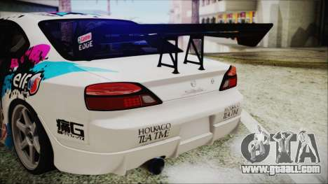 Nissan Silvia S15 Itasha Beta for GTA San Andreas back view