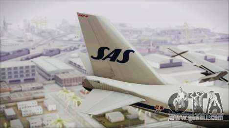 Boeing 747-283BM Scandinavian Airlines for GTA San Andreas back left view