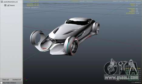 GTA 5 Mercedes-Benz Silver Lightning - Add-on rear right side view