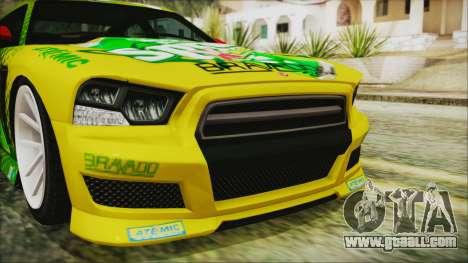 GTA 5 Bravado Buffalo Sprunk for GTA San Andreas inner view