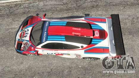 GTA 5 McLaren F1 GTR Longtail [Martini Racing] back view