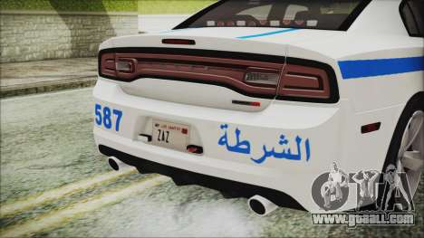 Dodge Charger SRT8 2012 Iraqi Police for GTA San Andreas inner view