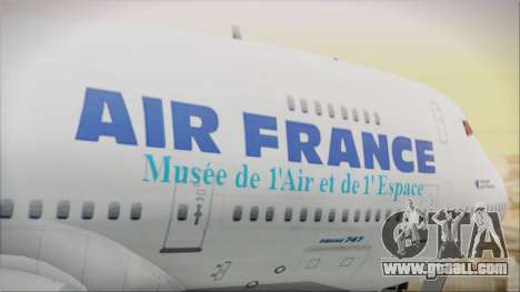 Boeing 747-128B Air France for GTA San Andreas back view