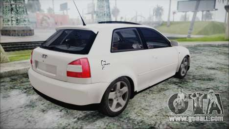 Audi A3 1.8 S3 for GTA San Andreas left view