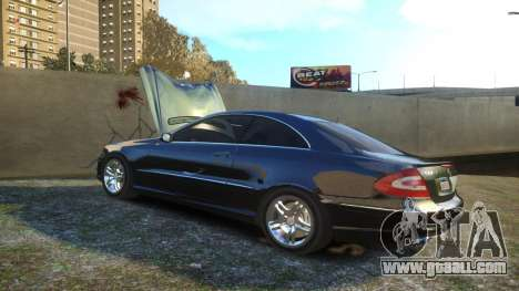 Mercedes CLK55 AMG Coupe 2003 for GTA 4 upper view