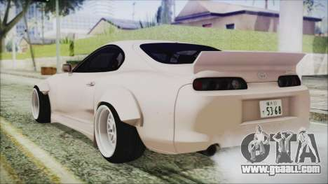 Toyota Supra JZA80 RocketBunny for GTA San Andreas left view