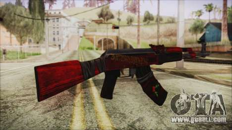 Xmas AK-47 for GTA San Andreas second screenshot
