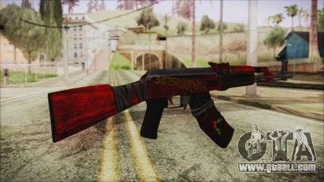 Xmas AK-47 for GTA San Andreas second screenshot
