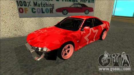 Nissan Silvia S14 Drift Red Star for GTA San Andreas