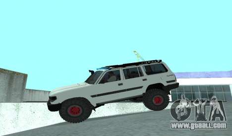 Toyota Autana 4500 off-road LED for GTA San Andreas inner view