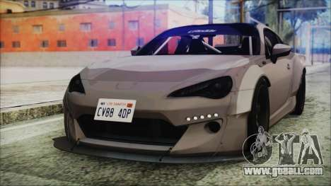 Toyota GT86 Rocket Bunny Tunable IVF for GTA San Andreas