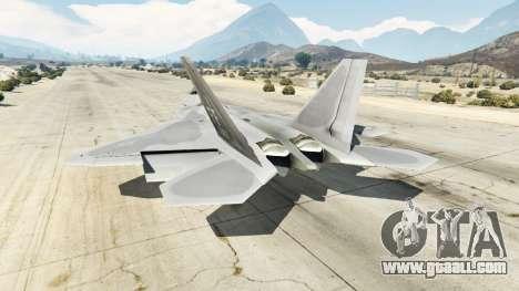 GTA 5 Lockheed Martin F-22 Raptor third screenshot