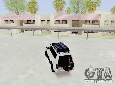 Toyota Land Cruiser Prado off-road LED for GTA San Andreas back left view