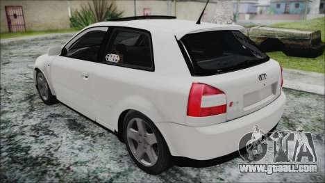 Audi A3 1.8 S3 for GTA San Andreas back left view