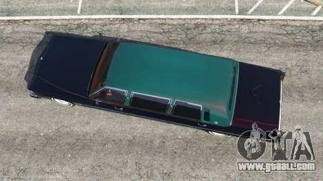 GTA 5 Cadillac Fleetwood 1985 Limousine [Beta] back view