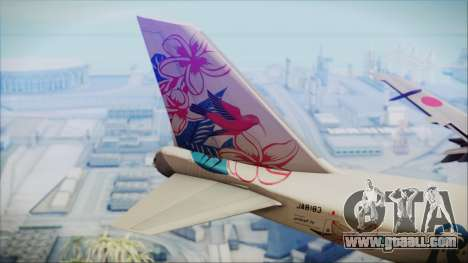 Boeing 747-300 Japan Airlines Resocha for GTA San Andreas back left view