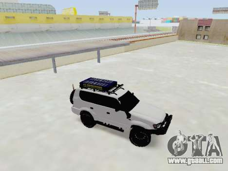 Toyota Land Cruiser Prado off-road LED for GTA San Andreas left view