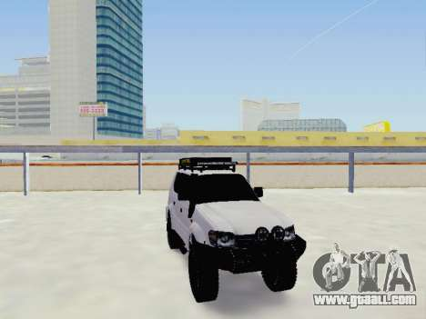 Toyota Land Cruiser Prado off-road LED for GTA San Andreas back view