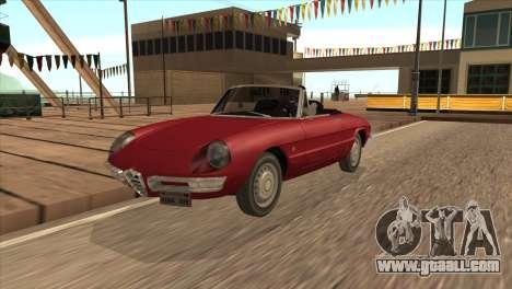 1966 Alfa Romeo Spider Duetto [IVF] for GTA San Andreas