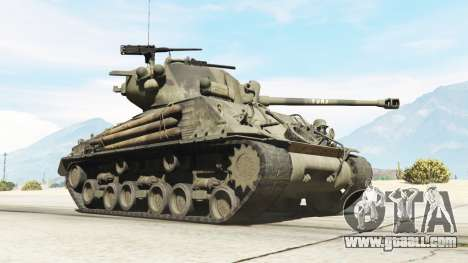 GTA 5 M4A3E8 Sherman Fury right side view