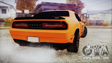 Dodge Challenger SRT 2015 Hellcat General Lee for GTA San Andreas left view