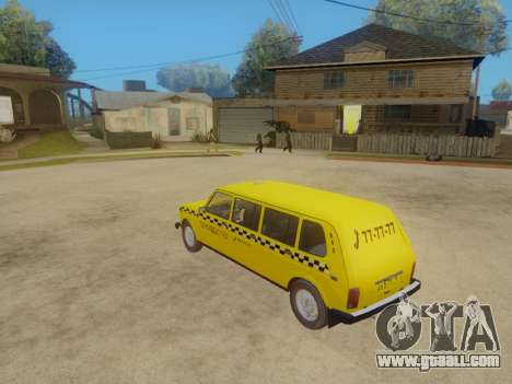 VAZ 2131 7-Door Taxi for GTA San Andreas back view