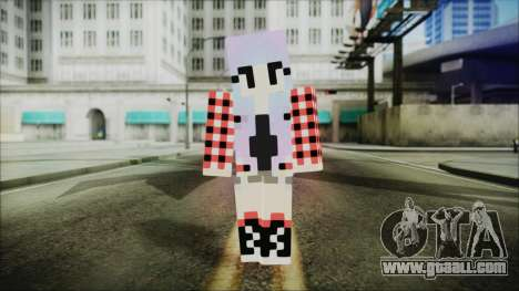 Minecraft Female Skin Edited for GTA San Andreas second screenshot