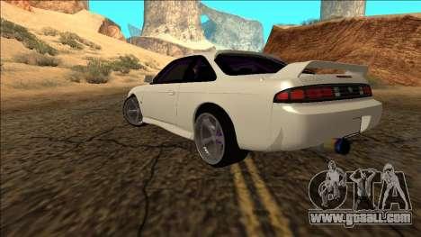 Nissan Silvia S14 Drift for GTA San Andreas back left view