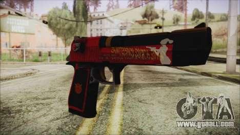 Xmas Desert Eagle for GTA San Andreas