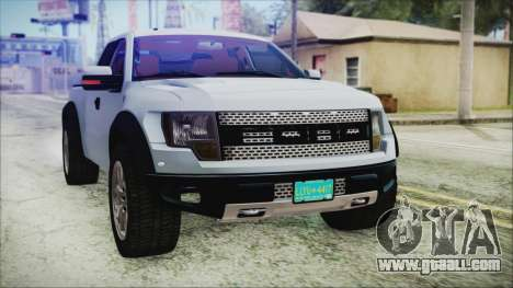 Ford F-150 SVT Raptor 2012 Stock Version for GTA San Andreas side view