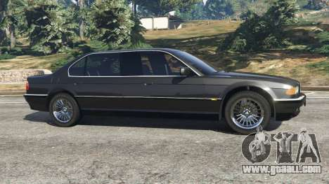 GTA 5 BMW L7 750iL (E38) left side view