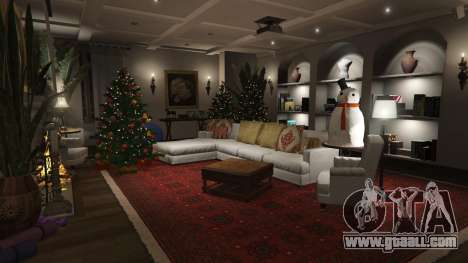 GTA 5  Christmas decorations for Michael's house fifth screenshot