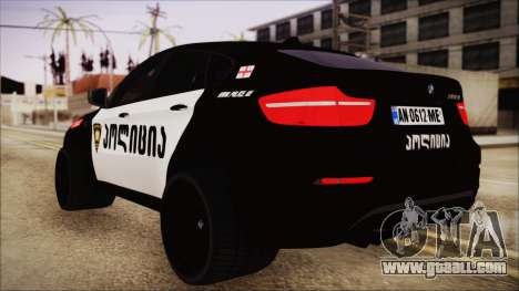 BMW X6 Georgia Police for GTA San Andreas left view