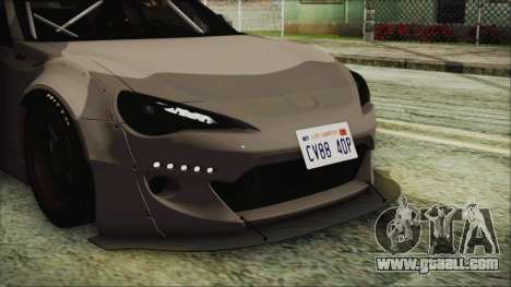 Toyota GT86 Rocket Bunny Tunable IVF for GTA San Andreas inner view