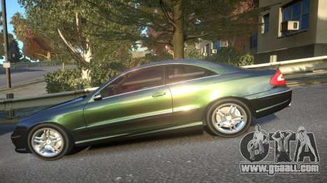Mercedes CLK55 AMG Coupe 2003 for GTA 4 left view