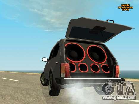VAZ 2123 Niva auto Sound for GTA San Andreas left view